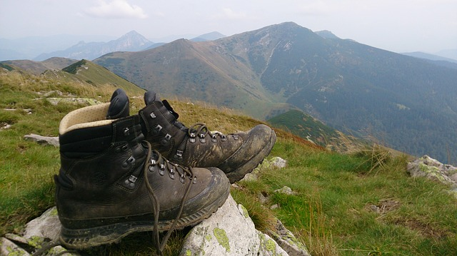 shoes in the mountains photo